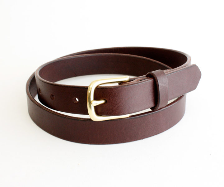Belt - Slim - Brown